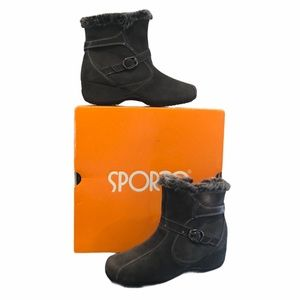Sporto Suede Waterproof Booties 7.5 W